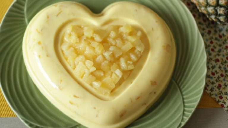 Doce gelado de ananás – Simples e refrescante