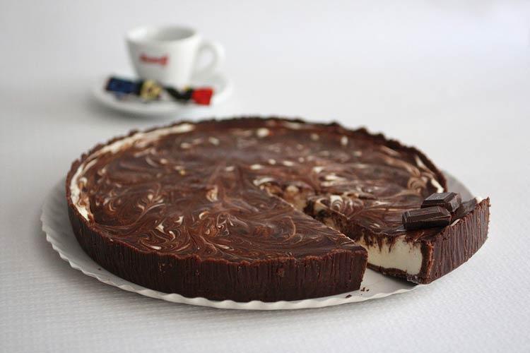 Tarte de chocolate e iogurte