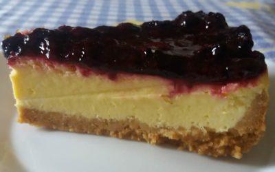 Cheesecake delicioso de Frutos Vermelhos