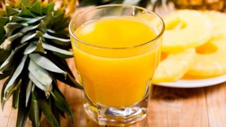 Suco emagrecedor de abacaxi com limão