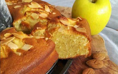 Bolo tentação de maçã e amêndoa