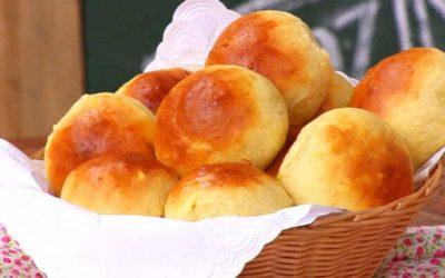 Pão de leite fofinho feito com 3 ingredientes