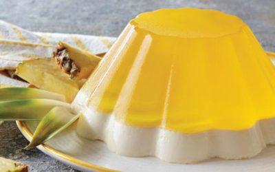 Pudim de ananás e leite condensado