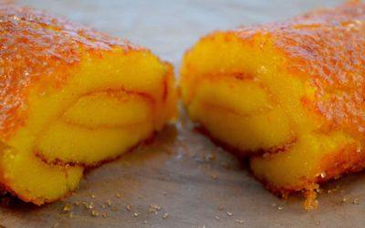Torta de laranja fofinha muito fácil com apenas 4 ovos