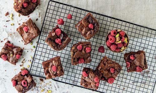 Brownie de chocolate com pistácios
