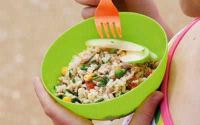 Salada fria de arroz integral