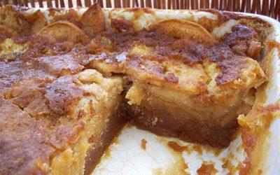 Tabuleiro de bolo molhado de maçã e caramelo – Que combinação tão perfeita
