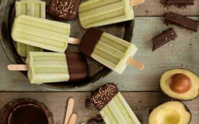 Gelados de Abacate e Chocolate