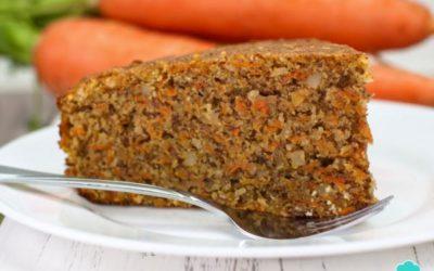 Bolo de cenoura com farinha integral