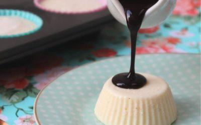 Receita de Sorvete de pudim com calda de chocolate